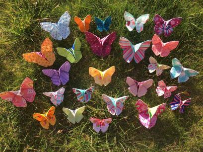 Origami Stoffschmetterlinge